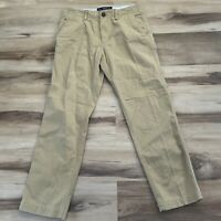 American Eagle Relaxed Straight Leg Chino Mens Classic Khaki Tan Pants 30x30