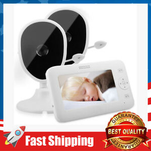Baby Monitor, 4.3'' Video Baby Monitor w/ 2 Cameras 1000ft Stable Transmission