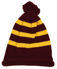 MAROON AND YELLOW STRIPED HARRY POTTER HOGWARTS STYLE FANCY DRESS BOOK WEEK HAT