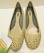 Propet Rejuve Sz 9.5W Womens Shoes Taupe Beige Podiatrist Designed Flats Comfort