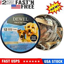 Dewel Cheaper than Seresto! Flea And Tick Collar for Small Medium Dog 1 Year New