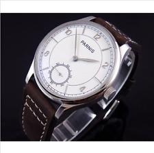 44mm parnis unitas 6498 white dial  manual wind Luxury men's Watch 012