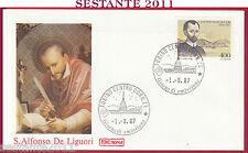 ITALIA FDC ROMA S. ALFONSO MARIA DE LIGUORI 1987 ANNULLO TORINO Y181