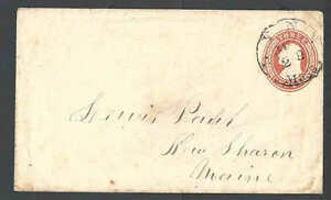 1853 U1 Used Entire 3c Red On White Die 1 UPSS 2a Size 7 Nesbitt Seal On Flap