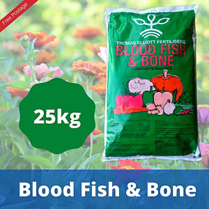 Fish Blood & Bone Organic Fertiliser For Trees, Plants, Fruit & Vegetables 25KG