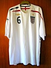 England Football Shirt Umbro home shirt 2007/9 size 3XL XXXL TERRY 6 vinyls