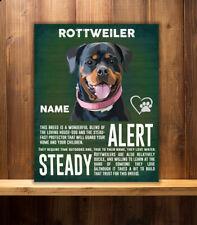 PERSONALISED  ROTTWEILER  DOG   BREED   VINTAGE METAL SIGN RS12