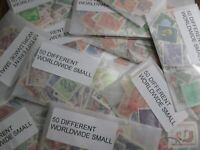 HENRYS' STAMPS - 20 PACKETS OF 50 EACH - 1000 WORLD WIDE SMALL FORMAT - USED -
