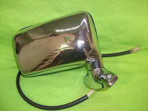 Vintage Chrome Remote Jeep Mirror Wagoneer Cherokee
