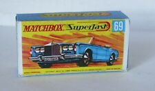 Repro box MATCHBOX superfast Nº 69 rolls royce silver shadow