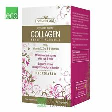 Natures Aid 100 Pure Marine Collagen Beauty Formula 90 Capsules Hair Skin Nails