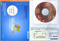 New Microsoft Windows XP Professional Full Version with SP2, COA & Product Key