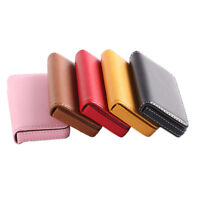 New Pocket PU Leather Business ID Credit Card Holder Case Wallet FH