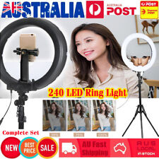 "19"" 5500K Diva LED Ring Light Diffuser MIRROR Stand Make Up Studio COMPLETE SET"