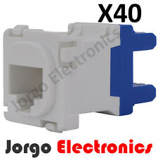 40 CLIPSAL COMPATIBLE CAT6 RJ45 Data Inserts Jacks X40