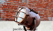 Nautical Antique Copper Marine LED Tripod Floor Lamp vintage Home Decor Lighting