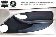 RED STITCH 2X FRONT DOOR CARD TRIM LEATHER COVERS FITS PONTIAC FIREBIRD 93-02