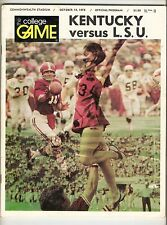 1974 LSU Tigers vs. Kentucky Wildcats Program Sonny Collins Bo Harris A106