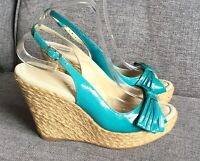 Moda In Pelle Sandals 8 41 Pool Party High Wedge Heel Holiday Summer Bow Raffia