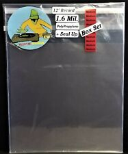 """50 Medium Box Set Outer Sleeves 1.6mil + Seal Up Covers for 12"""" LP Vinyl Records"""