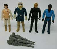 Star Wars Original Kenner Action Figure Lot of 4 Han Luke Leia Lando Falcon Gun!