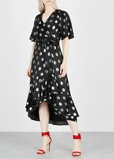 $645 Diane von Furstenberg Sareth Polka Dot Wrap Dress Size 6