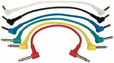 6 cavi ROCKCABLE cavo Jack/Jack a Pipa x collegamenti Pedali effetti chitarra