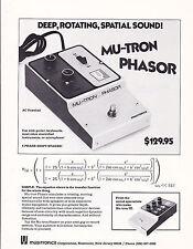 VINTAGE AD SHEET #3136 - 1975 MUSITRONICS MU-TRON PHASOR