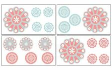 COCALO DAHLIA COLLECTION PIN WHEEL DESIGN REMOVABLE SELF STICK  WALL DECALS NEW