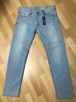 NWD Mens Diesel BELTHER STRETCH DENIM RS010 BLUE SLIM W33 L32 H7 RRP£180.