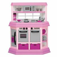 American Plastic Toys Kids Pink First Very Own Custom Kitchen Role Play Toy Set
