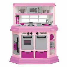 American Plastic Toys Custom Kitchen Pretend Play Toy Set for Kids, Pink