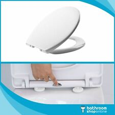 Quick Release Soft Close Seat White Round Oval Bathroom Heavy Duty Toilet Seat
