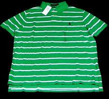 Polo Ralph Lauren Shirt Polo SSL KNT Stripe Baumwolle grün weiß Größe XXL