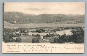 Slottskogsparken GOTEBORG Sweden Sverige Gothenburg Antique Postcard 1902