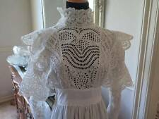 Gorgeous Antique Edwardian White Cotton French Cluny Eyelet Lace Tea Dress Best