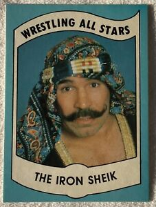 1982 Wrestling All Stars Series B The Iron Sheik Rookie Card  #25 In The Set