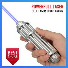 High Power Blue Laser 5000000 M Torch 450nm Pointers Flashlight Focus Burn Lazer