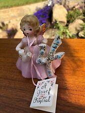 Vintage Josef Original Birthday Angel Girl4 th Four Perfect