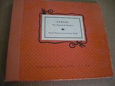 "78 rpm Record Set ""EDWARD the Dignified Monkey"" Vernon Crane Story Columbia J-13"