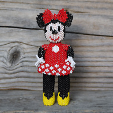 Native American Beadwork Zuni Beaded Minnie Mouse by Hollie Booqua