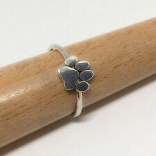 Handmade Sterling Silver Dog Paw Ring