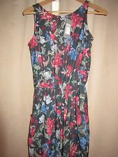 BNWT Love TopShop Jumpsuit S 8-10 Floral Pattern Dress Up All In One Party Pink