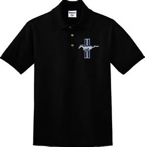 Men's polo style collared shirt Ford Mustang tshirt Mustang golf shirt Ford mens