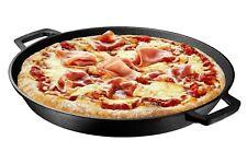 16 Inch Pre Seasoned Cast Iron Deep Pizza Pan Skillet Dual Handles Frying Pan