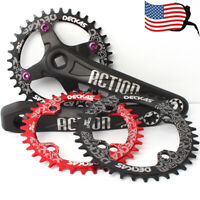 104BCD 170mm Crank MTB Bike 32-52T Round Oval Single Chainring Crankset Sprocket