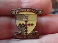 Vintage Brigidine Subiaco Fortiter et Suaviter Badge Pin (Lot C19)