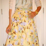 New Authentic New PRADA Yellow Floral Silk Skirt (size 40/6)