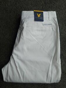Lyle and scott golf trousers BNWT new 32w 32L Frida chino white