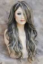 Striking Long Loose wavy HEAT SAFE WIG Skin Top Brown Blonde mix wnta 6-613